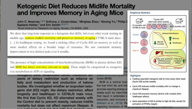 Ketogenic Diet Reduces Midlife Mortality